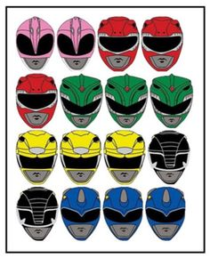 Power Rangers Inspired Edible outline cutout images for cupcake, Rice krispie or apple decoration. Power Ranger Cake Toppers, Power Ranger Cupcakes, Power Ranger Party, Power Ranger Birthday, 30th Birthday Cake Topper, Graduation Cake Toppers, Cake Templates, Power Rangers Dino, Apple Decorations