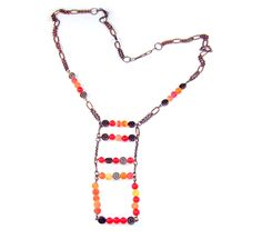 Elysian Collection - real gemstones, unisex jewelry. Carnelian and orange agate... copper chain. Stunning ~