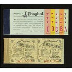 Vintage 1970s Disneyland Ticket Books ♥