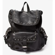 FOREVER 21 Studded Faux Leather Backpack. WANT!!!