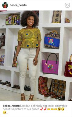 Short African Dresses, African Blouses, African Tops, African Fashion Dresses, African Women, African Attire, African Wear, Chitenge Outfits, Moda Afro
