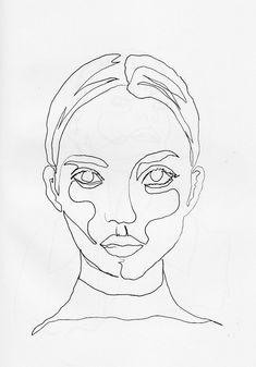 Afbeeldingsresultaat voor continuous line drawing portrait Art Et Illustration, Illustrations, Drawing Sketches, Art Drawings, Continuous Line Drawing, Painting & Drawing, Drawing Drawing, Blind Contour Drawing, Contour Drawings