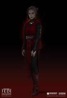 In the story, we discover that this witch we thought was against Cal the whole time is actually a pawn of Taron Malicos. Merrin realizes she has been deceived by Malicos and when things escalate, she turns on him and chooses to leave Star Wars Sith, Star Wars Droids, Star Wars Kylo Ren, Dune Film, Star Wars Fallen Order, Star Wars Outfits, Star Wars Fan Art, Star Wars Characters, Good Music