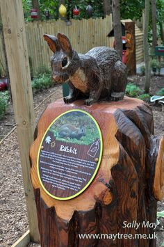 "Rabbit Information post for Centre Parcs at Elvenden Forest. Part of the new Sensory Adventure. ""This compelling family adventure offers you the chance to explore our unique sensory woodland, testing your own sight, hearing, touch, taste and smell against the best in the animal kingdom. Find out which animals you compare to and build up a picture of your own ""sensational"" creature!"""