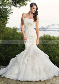 Sexy Mermaid Hochzeitskleider Brautkleider Lace& Organza Wedding Dress Bridal Dress von DIYdress.de