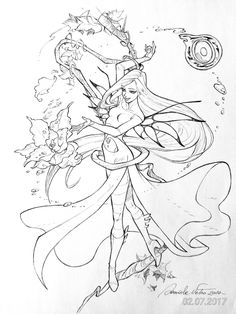 comics and artworks Fairy Coloring Pages, Coloring Books, Cornelia Witch, Cornelia Hale, Fantasy Magic, Witch Art, Magical Girl, Anime Love, Cartoon Art