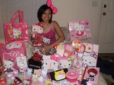 Hello Kitty and Big Pink Bow on Susan! #SephoraHelloKitty