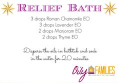Relief Bath - relaxing bath with essential oils
