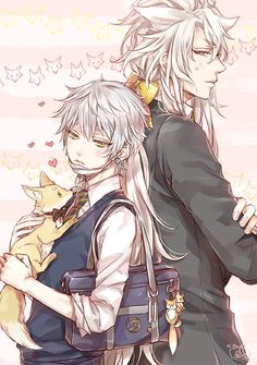 They're cute as brothers because they are both foxes! Manga Boy, Manga Anime, Anime Art, Hot Anime Boy, Anime Guys, Awesome Anime, Anime Love, Touken Ranbu Nakigitsune, Another Anime