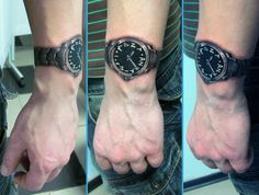 Tattoo on wrist #tattoo #watch