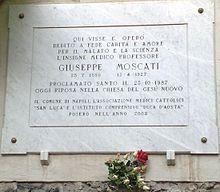 TargaMoscati - Giuseppe Moscati - Wikipedia