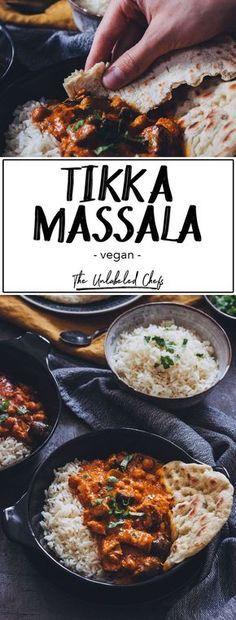Veganes Tikka Masala - The Unlabeled Chefs Die indische Küche muss man einfach lieben. Insbesondere dieses Tikka Massala with Absolut Suchtgefahr. Dazu solltet é a pessoa que não amaldiçoa Naan Brot probieren. Gluten Free Recipes For Dinner, Veggie Recipes, Easy Dinner Recipes, Indian Food Recipes, Healthy Dinner Recipes, Vegetarian Recipes, Healthy Food, Bread Recipes, Indian Snacks