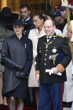 Princess Charlene and Prince Albert of Monaco...
