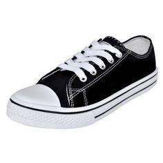 Ebay Angebot Low Top Damen Sneaker Canvas Sport Schnür Schuhe Sportschuhe Turnschuhe Gr. 36Ihr QuickBerater