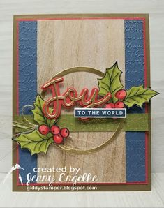 Christmas Punch, Stampin Up Christmas, Christmas Cards To Make, Christmas Holidays, Card Making Inspiration, Color Inspiration, Old Games, Holly Leaf, Global Design