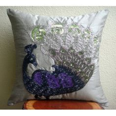 Silver Dancing Peacock - 30x30 cm Square Decorative Throw... https://www.amazon.co.uk/dp/B00K4KQ316/ref=cm_sw_r_pi_dp_x_2m0Hyb4T4GBH0
