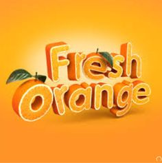 Orange peel typography 3D