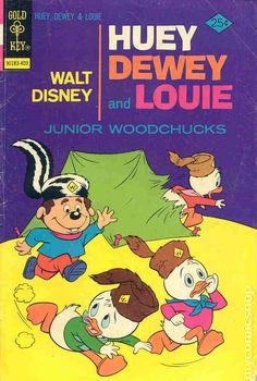 Cover for Walt Disney Huey, Dewey and Louie Junior Woodchucks (Western, 1966 series) [Gold Key] Walt Disney, Donald Disney, Disney Duck, Disney Mickey, Mickey Mouse, Classic Comics, Classic Cartoons, Comic Book Covers, Comic Books