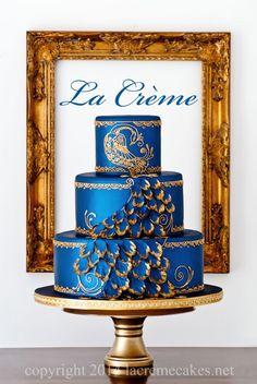 La Creme Wedding Cakes: Wedding Cakes in Murfreesboro, Tennessee<br> Henna Cake Designs, Wedding Cake Designs, Wedding Ideas, Engagement Cake Design, Engagement Cakes, Peacock Cake, Peacock Wedding Cake, Pretty Cakes, Beautiful Cakes