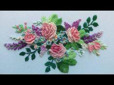 ЦВЕТОЧНАЯ ВЫШИВКА    FLOWER EMBROIDERY - YouTube