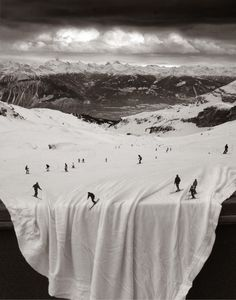 Snowy slopes - Surreal photography