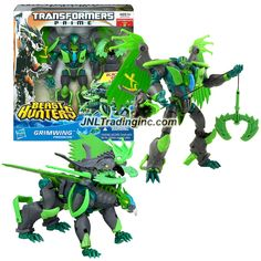 """Transformers Prime Beast Hunters Series Voyager Class 7"""" Tall Figure #4 - Predacon GRIMWING with Blackbeak Grapple Launcher (Beast Mode: Griffin)"""