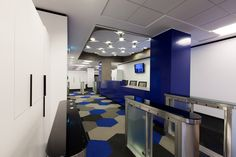 Deutsche Bank Technology Center- in Cary, NC #largeoffice #commercialspaces #commercialinteriors #design #flooring