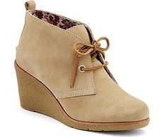 Sperry Top-Sider Harlow Wedge Bootie SandSuede, Size Women's Shoes from Sperry. Wedge Boots, Suede Ankle Boots, Ankle Booties, Shoe Boots, Suede Booties, Wedge Sandals, Leather Boots, Bootie Boots, Shoes Heels