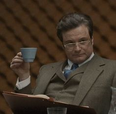Tinker Tailor Soldier Spy , Bill Haydon's teacup. Colin Firth