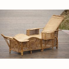 1000 images about rotin osier on pinterest rattan for Chaise longue rotin