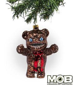Krampus Film Teddy Klaue Glass Ornament – Middle of Beyond