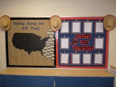 Accelerated Reader and Writing Board Displays...Western Theme