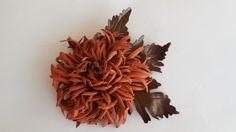 leather ore chrysanthemum w Lela Flowers na DaWanda.com