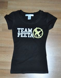Team Peeta Hunger Games TShirt by jerryamsterdam on Etsy, $15.95