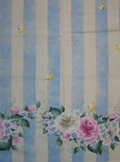 Daisy Kingdom Donna Dewberry Rose Border fabric by pamela44, $8.00