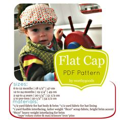 worthygoods flat cap pdf pattern sizes materials