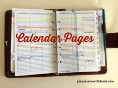 Calendar Pages | Play 2 Learn with Sarah