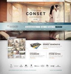 Hilton HHonors by Lauren Totman, via #Behance #Webdesign