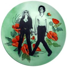 Sid and Nancy Portrait Plate - Altered Vintage Plate