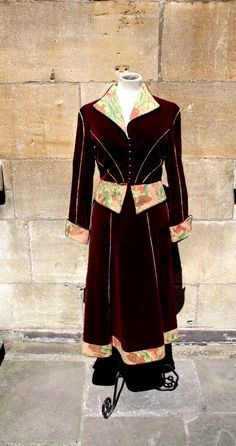 Items similar to deep wine velvet Anna Belinda suit on Etsy Steampunk Costume, Tweed, 1970s, Anna, Bell Sleeve Top, Velvet, Costumes, Suits, Trending Outfits