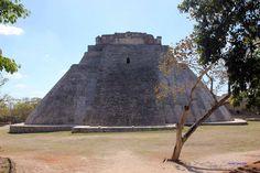 Uxmal, Mexiko, abgerundete Pyramide