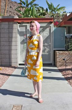 theclotheshorse: Johanna Ost Not normally into bright colors, but. Yellow Fashion, Retro Fashion, Vintage Fashion, Vintage Style, Retro Style, Pin Up, Dress Up Boxes, Look Retro, Clothing And Textile
