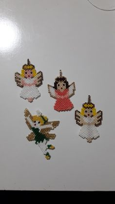 Peyote Beading Patterns, Bead Loom Patterns, Loom Beading, Beaded Angels, Beadwork Designs, Beads Pictures, Beaded Christmas Ornaments, Bead Loom Bracelets, Native American Beadwork