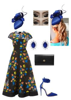 """""""Untitled #853"""" by lovelifesdreams on Polyvore featuring Lela Rose, Gucci, Christian Louboutin and Effy Jewelry"""