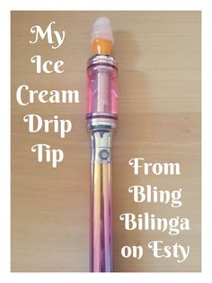 My Ice Cream Drip Tip for my vape / ecig from Bling Bilinga on etsy! :