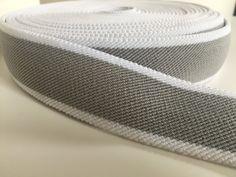 1.6 inch (4 cm) gray and white elastic webbing by NoaElastics on Etsy