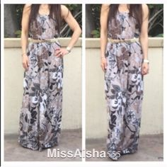 Stunning maxi tube dress One DAY SALE Beautiful print flowy rayon pretty tube dress FINAL PRICE LOWEST PRICE PLEASE DON'T PURCHASE THIS LISTING WILL MAKE YOU A LISTING WITH SIZE NEEDED THANKS Dresses