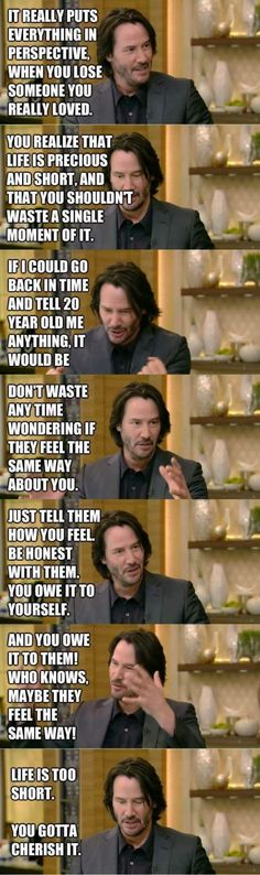 Keanu Reeves with some real sh*t