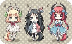 Hakutaku Adoptable Set [Closed] by Rini-tan on deviantART