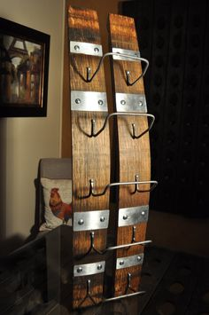 Napa Valley Wine Barrel Stave Wall Hanging by NVCustomBarrelArt